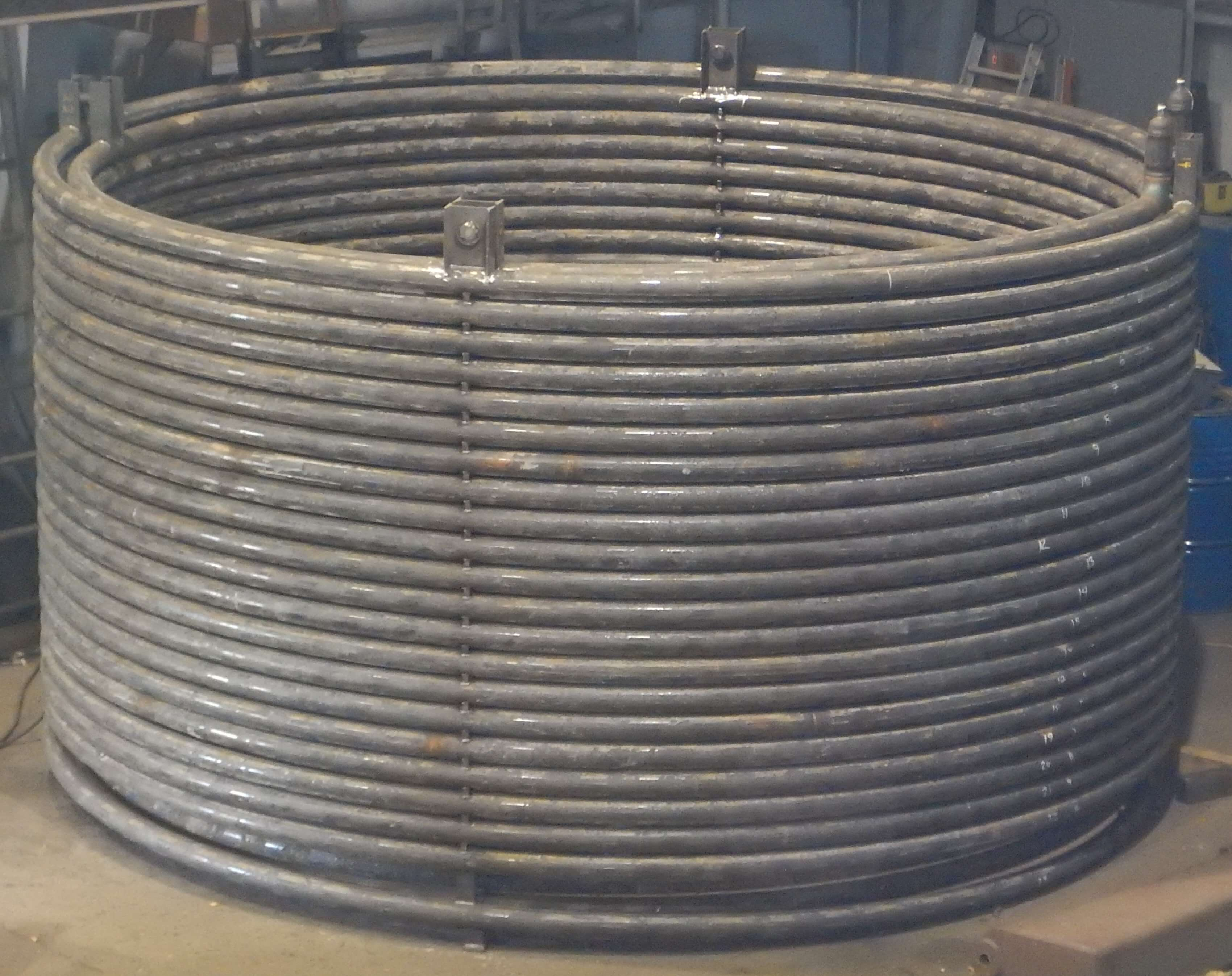 Double Helical Coil Bending