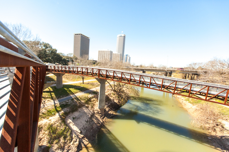 BRIDGE OVER BUFFALO BAYOU HOUSTON, TX