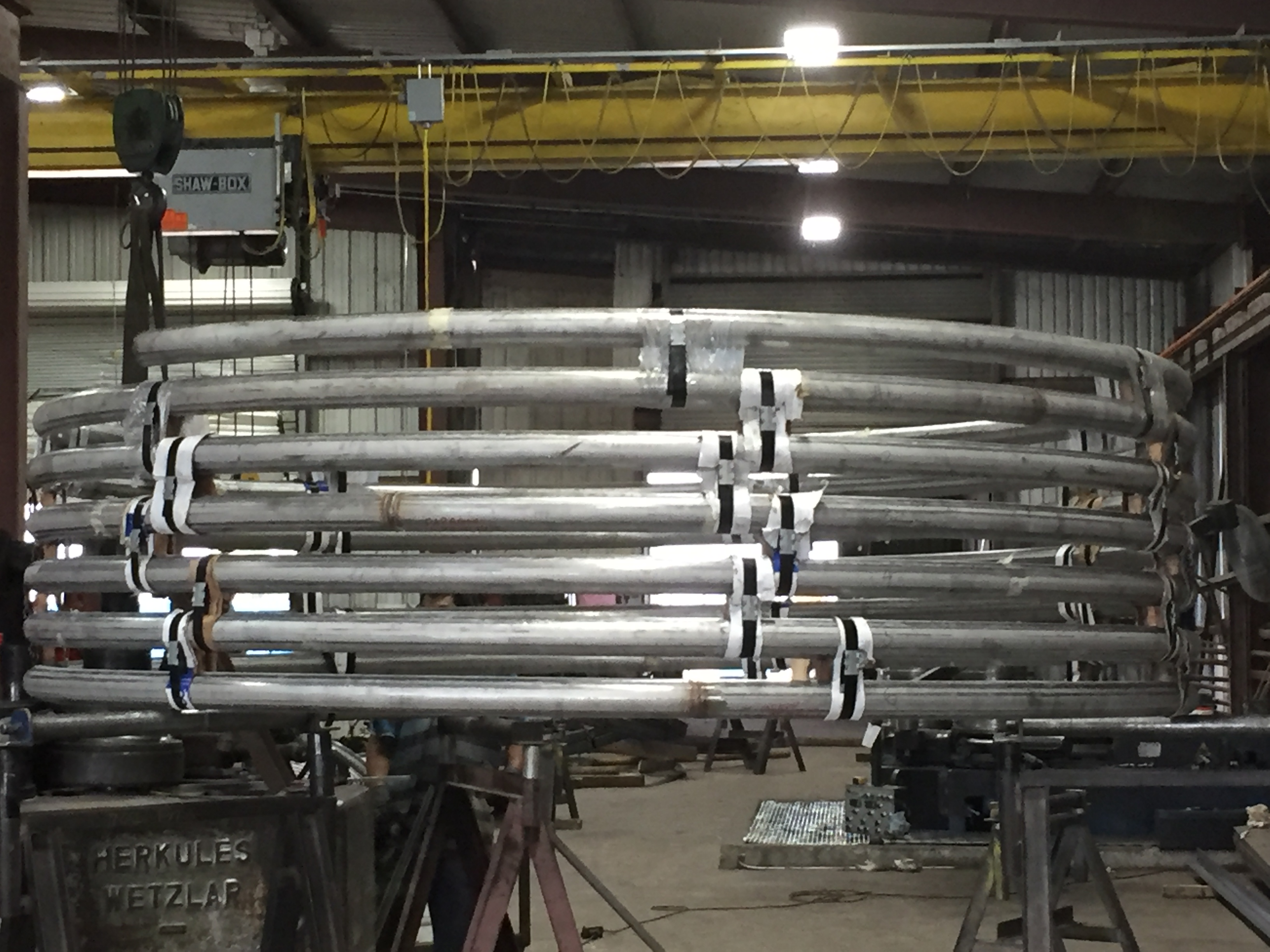 Helical Bending of Steel Tube